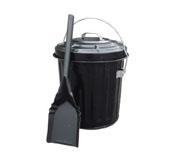 4-gal. Blk. Ashpail with Shovel